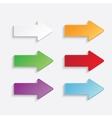 color arrows set vector image