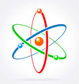 colorful atom vector image
