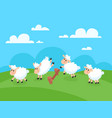 counting jumping sheeps for goodnight sleep sheep vector image vector image
