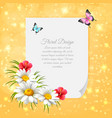 daisy realistic letter vector image