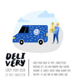 delivery service cargo industry courier character vector image vector image