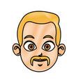drawing head man face avatar vector image vector image
