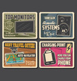electronic devices digital appliances posters vector image vector image