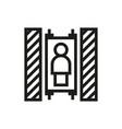 elevator icon on white background vector image