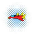 Fighter aircraft icon comics style vector image vector image