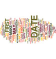 first date chemistry text background word cloud vector image vector image
