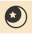 Flat in black and white mobile application star vector image vector image