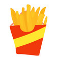 french fries icon cartoon style vector image vector image