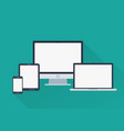 gadgets with blank screens vector image