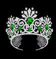 Gem Crown vector image vector image