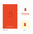 girls skirt company logo app icon and splash page vector image vector image