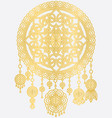 golden mandala dreamcatcher vector image