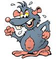 hand-drawn an angry upset rat vector image