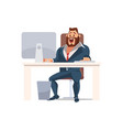 happy man work in office vector image