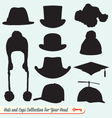 Hats and Caps Collection vector image vector image