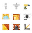 Home repair icons realistic vector image vector image