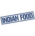 indian food stamp vector image vector image