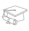 isolated graduation cap design vector image