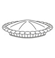 line art black and white thanksgiving pot pie vector image vector image