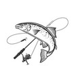 logos on a fishing theme vector image vector image