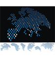 map dot europa vector image vector image
