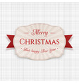 merry christmas greeting label vector image vector image