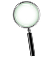 metal magnifying glass vector image