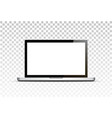 mock up realistic laptop with empty screen vector image