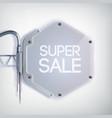 modern billboard sale poster vector image vector image