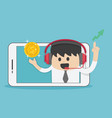 new idea bulb successful young businessman from vector image vector image
