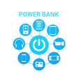 portable cahrger power bank technology with modern vector image vector image