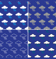 rain cloud pattern seamless vector image vector image