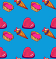 seamless pattern with sweets-3 vector image vector image