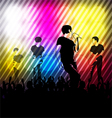 silhouettes music band vector image vector image
