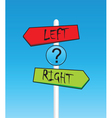 street sign vector image vector image