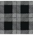 tartan seamless pattern black white checkered vector image vector image
