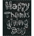 Thanksgiving lettering vector image