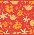 trendy floral seamless pattern with doodle vector image vector image