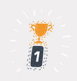 trophy awards icon vector image