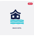 two color beach hotel icon from hotel concept vector image vector image