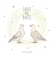 two white doves vector image vector image
