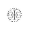 viking circle symbol vector image vector image