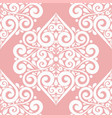white and pink ornamental seamless pattern vector image vector image