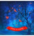Winter Night Card vector image vector image