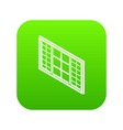 wood window frame icon green vector image vector image