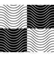 zig zag wavy lines seamless monochrome pattern vector image