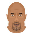 dwayne johnson face icon in flat style vector image