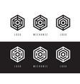 abstract hexagon logo design vector image