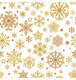 a golden snowflakes seamless pattern xmas vector image vector image