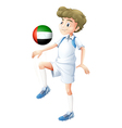 A soccer player from the UAE vector image vector image
